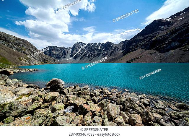Ala-Kul - majestic mountain lake of Tien Shan, Kyrgyzstan