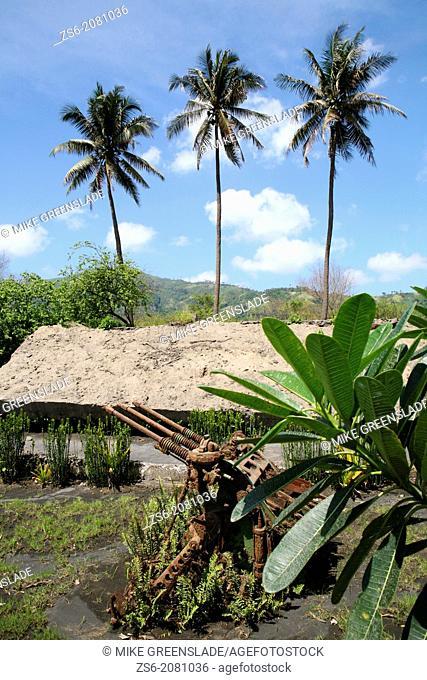 Japanese Anti-Aircraft gun outside Admiral Yamomoto's bunker, Rabaul, East New Britain, Papua New Guinea