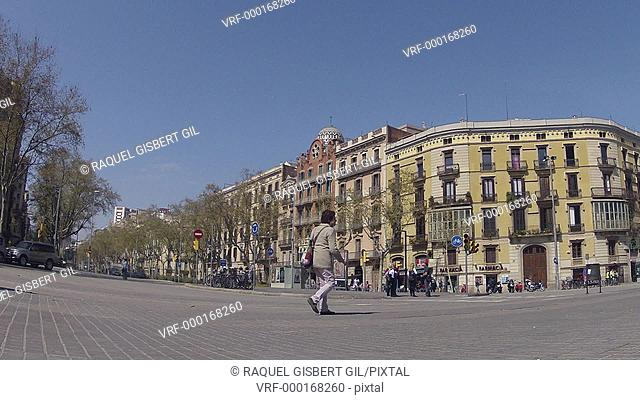 Eixample, Arc de Triomf, Barcelona, Catalonia, Spain