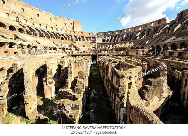 Interior view of the Colosseum - Rome, Italy