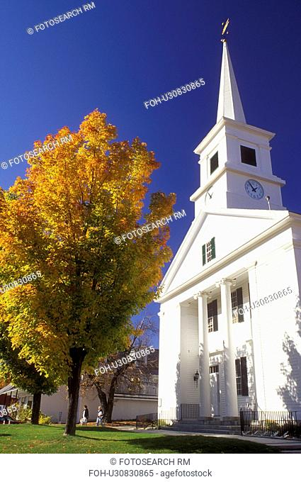 church, Dublin, NH, New Hampshire, Community Church in the town of Dublin in the autumn