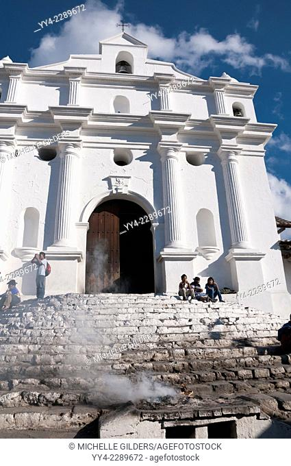 Iglesia de Santo Tomas, Church of Saint Thomas, Chichicastenango, Guatemala