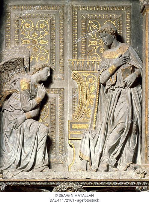 Italy - Tuscany - Florence. Church of Santa Croce. UNESCO World Heritage List, 1982. Donatello (original name Donato de' Bardi, c. 1386-1466)