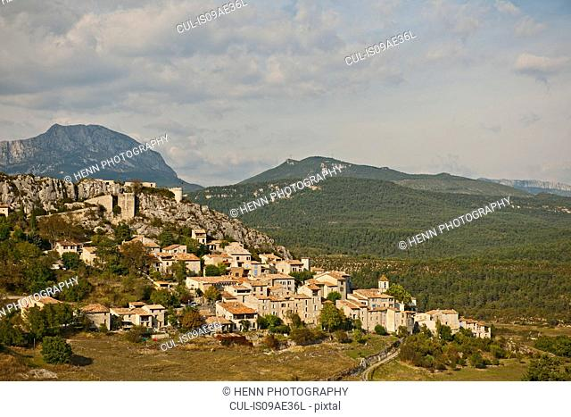 Medieval town of Trigance at Canyon du Verdon, Provence, France