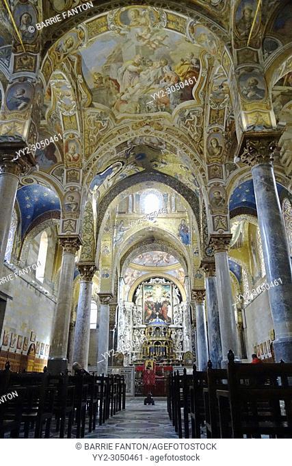 Byzantine Mosaic, La Martorana, Palermo, Sicily, Italy