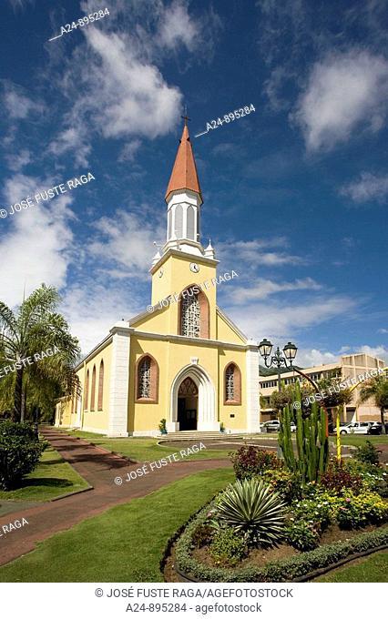Notre Dame Cathedral, Papeete, Tahiti Nui, Tahiti island, Society Islands, French Polynesia (May 2009)