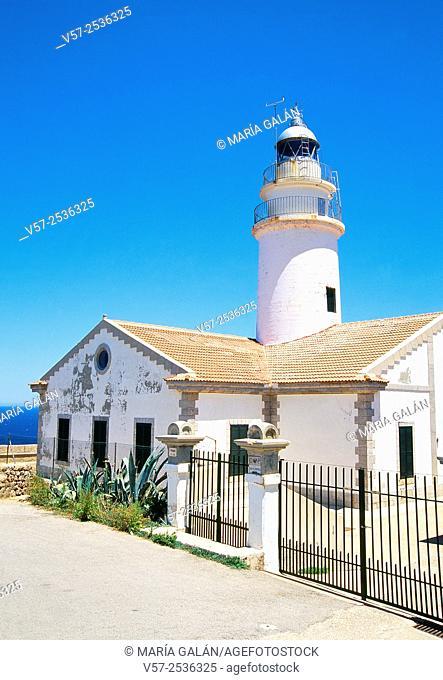 Cala Ratjada lighthouse. Capdepera, Mallorca island, Balearic Islands, Spain