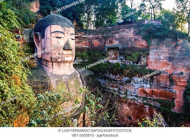 Leshan Giant Buddha, the largest stone Buddha in the world Sichuan, China