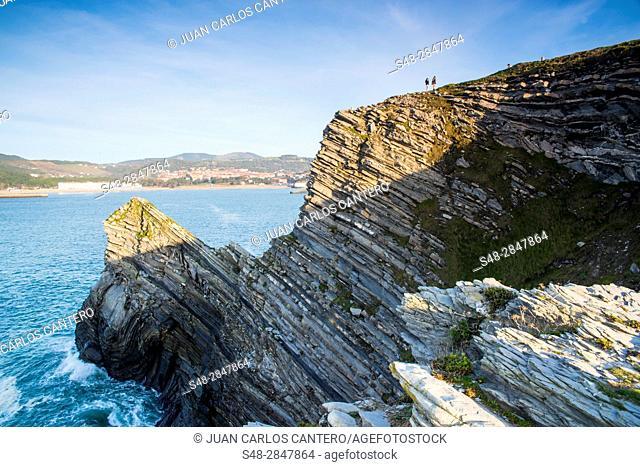 Acantilados de Golfo Norte. Barrika. Vizcaya. Pais Vasco