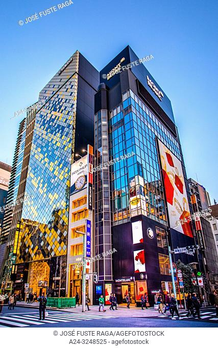 Japan, Tokyo City, Ginza District, Chuo Avenue