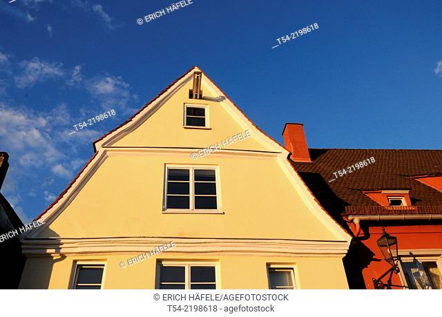 Colorful Gable in the old town of Memmingen