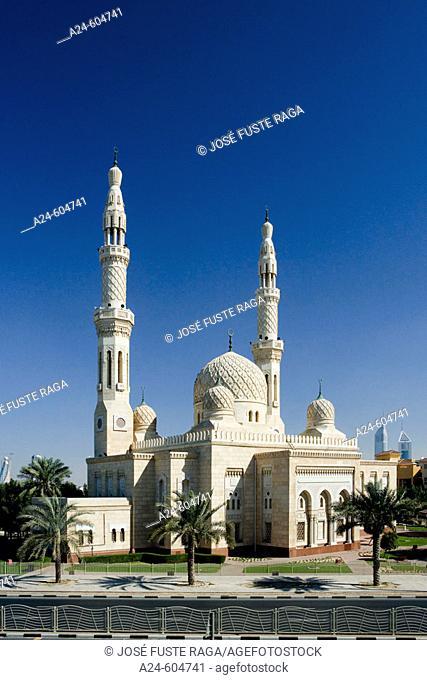 United Arab Emirates. Dubai City. Jumeira District. Jumeira Mosque