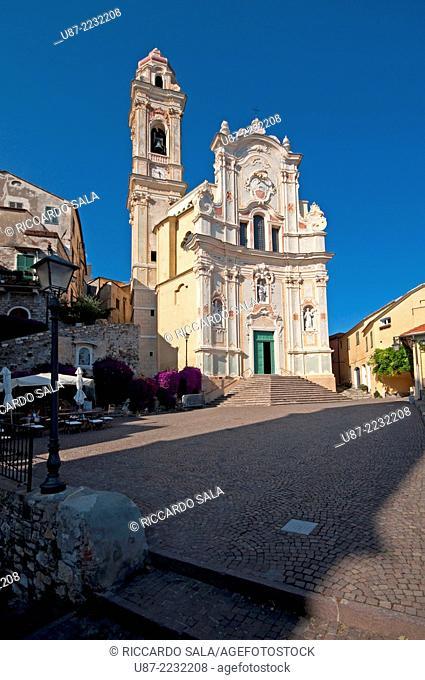 Italy, Liguria, Cervo, San Giovanni Battista Church