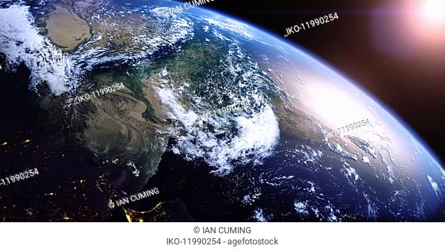 India, Pakistan and Persian Gulf from space