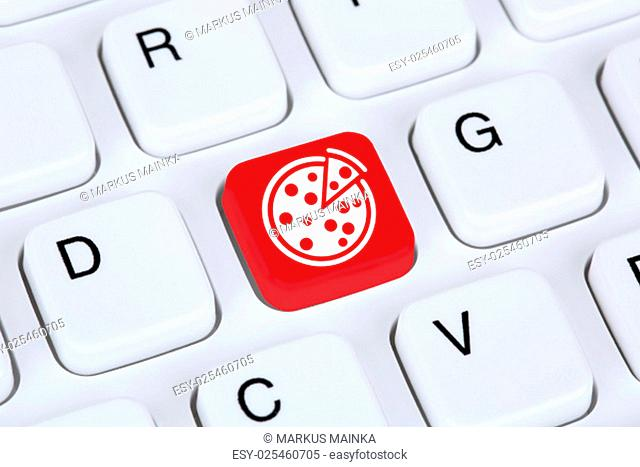 pizza to order food online and provide the internet computer keyboard