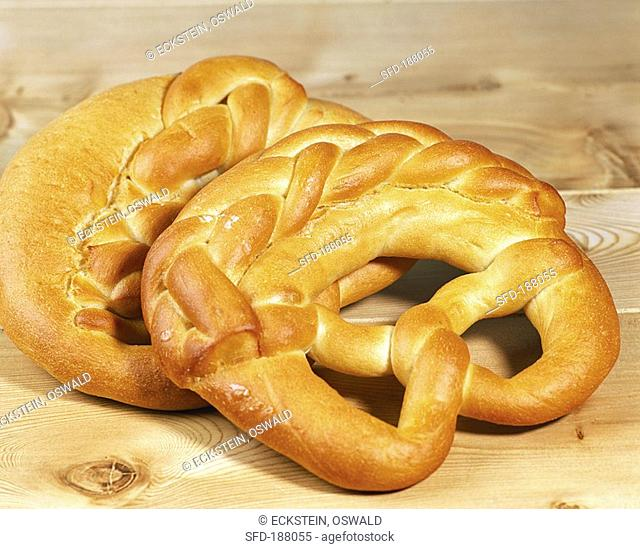 Two New Year pretzels