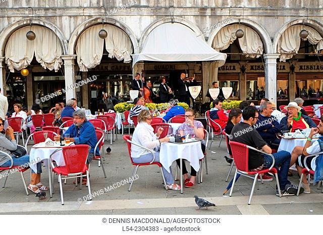 Restaurant Cafe St. Mark's Square Venice Italy IT Europe EU Adriatic Sea Grand Canal