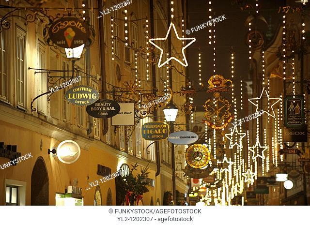 Christams lights at Satlzburgh market - Austria