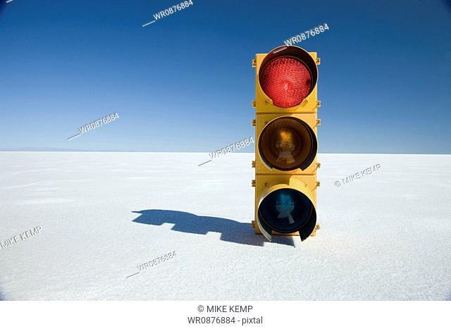 traffic signal in the middle of nowhere