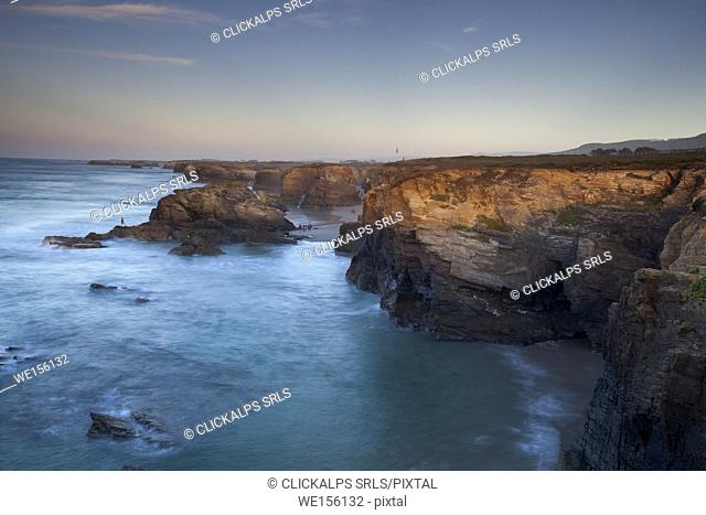 Beach of the Cathedrals, Ribadeo, Lugo, Galicia, Spain, Europe