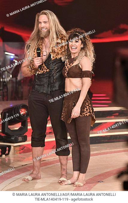 Lasse Matberg during the performance at the talent show ' Ballando con le stelle ' (Dancing with the stars) Rome, ITALY-14-04-2019