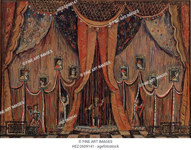 Design of curtain for the opera Dorothea by T. Khrennikov, 1983. Artist: Lushin, Alexander Fyodorovich (1902-?)
