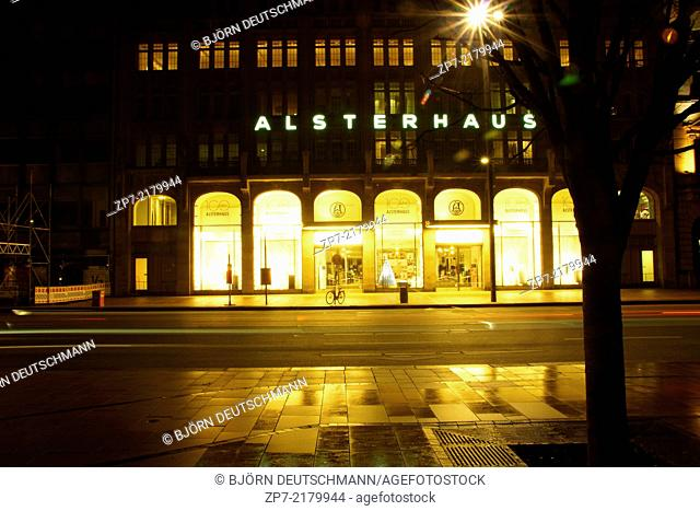 The store Alsterhaus at the Jungfernstieg, Hamburg