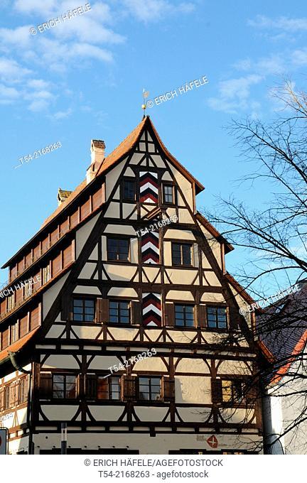 The historic Siebendächerhaus house in Memmingen