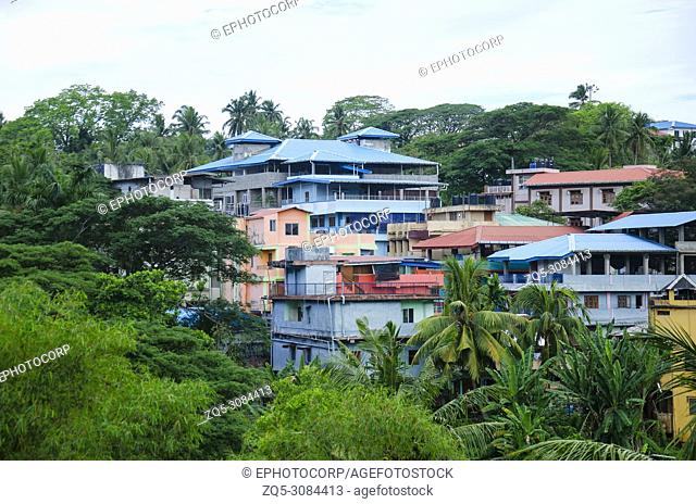 Colorful rooftops, Port Blair, Andaman and Nicobar Islands, India