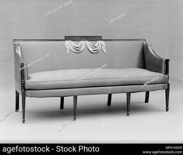 Sofa. Date: 1800-1805; Geography: Made in New York, New York, United States; Culture: American; Medium: Mahogany with ash