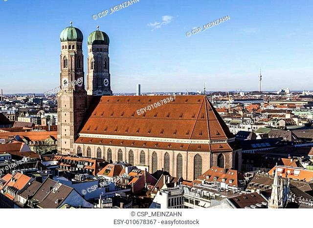 The Church of Our Lady (Frauenkirche) in Munich (Germany, Bavaria)
