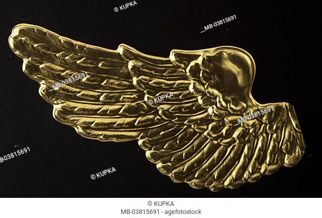 Angel wings, golden,    Studio, free plates, Christmas, Christmas, disguise, wings, gold, quietly, life, fact reception, background black