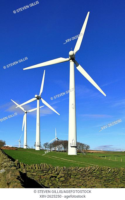 Royd Moor wind farm near Penistone, Barnsley, South Yorkshire, England, UK