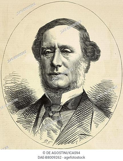 Portrait of William Sterndale Bennett (1816-1875), English composer, engraving from The Illustrated London News, No 1853, February 13, 1875