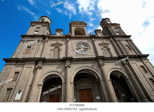 Gran Canaria, Canary islands, Spain, Europe, Las Palmas, church, Santa Ana, cathedral, Old Town, tourism, place