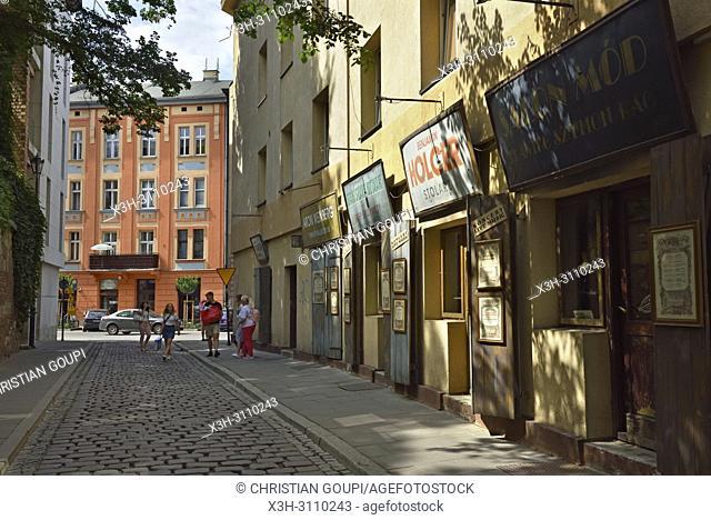 little shops in Szeroka street, District of Kazimierz, Krakow, Malopolska Province (Lesser Poland), Poland, Central Europe