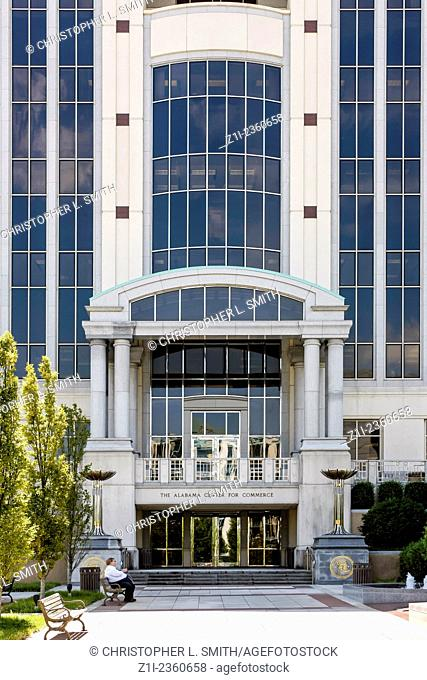 The Alabama State Department of Commerce building in Montgomery