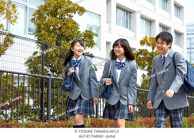 Japanese junior high students