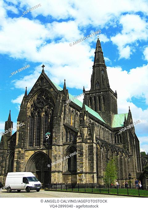 Glasgow Cathedral, High Kirk of the city of Glasgow Originally Medieval Roman Catholic, now protestant Church of Scotland