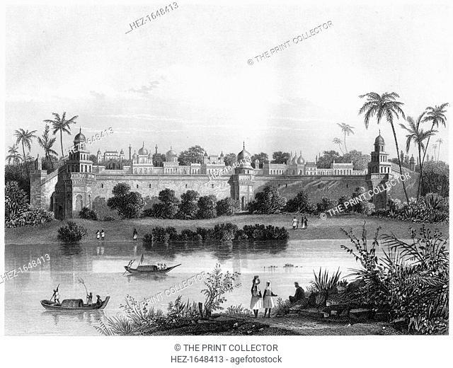 'View of the Palace of Agra, from the river', c1860. Agra in India. Illustration from The History of the Indian Mutiny, by Charles Ball, Volume IV