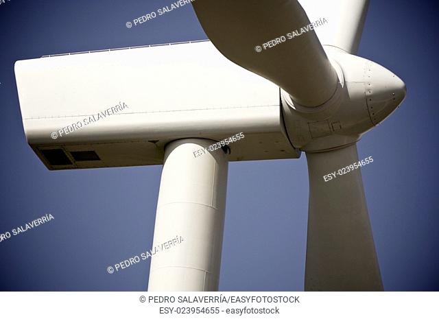windmil for renewable energy production, Zaragoza Province, Aragon, Spain