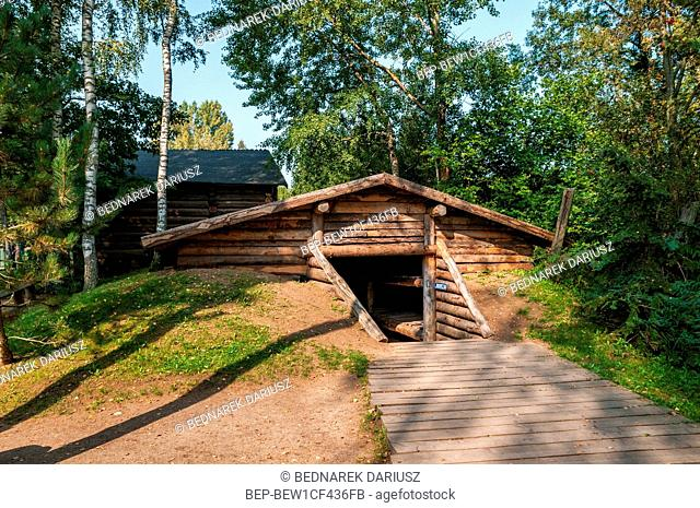 Siberian house and labor camp. Centre for education and regional promotion. Szymbark, village in Pomeranian Voivodeship, Poland