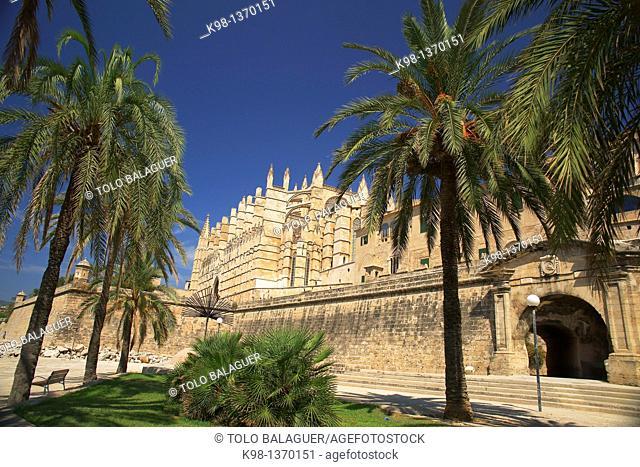 Palma Cathedral La Seu, XIV-XVI century Palma Mallorca Balearic Islands Spain