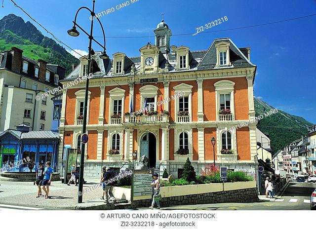 Hôtel de Ville (Town Hall). Cauterets town, Hautes-Pyrénées department, Occitanie region, France