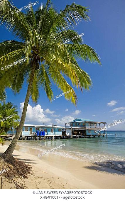 Waterside hotel, Carenero Island, Bocas del Toro Province, Panama