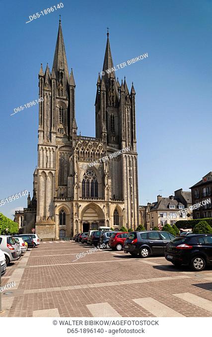 France, Normandy Region, Manche Department, Coutances, Coutances Cathedral