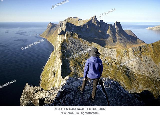 Norway, Troms County, north of the Arctic Circle, Senja island between Tromso and the Lofoten islands, Fjordgard village
