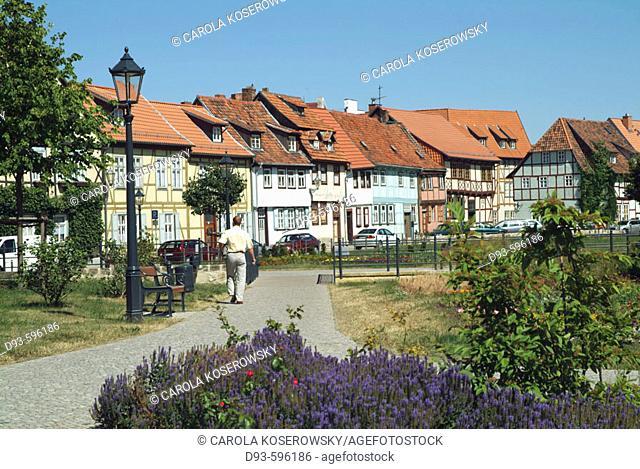 Germany, Saxony-Anhalt, Quedlinburg, UNESCO, Timberwork