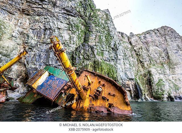 The 2009 wreck of Russian ship Petrozavodsk on Bjørnøya (Bear Island), Svalbard, Norway