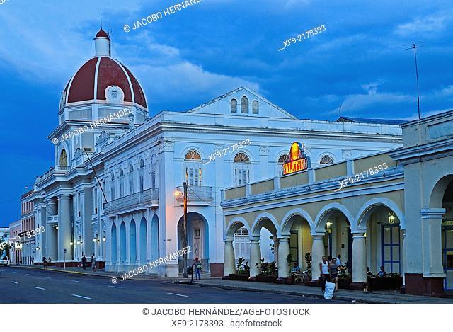 Governement Palace and El Palatino Bar.Cienfuegos.Cuba